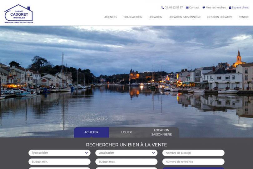 Cadoret Immobilier lance son nouveau site web